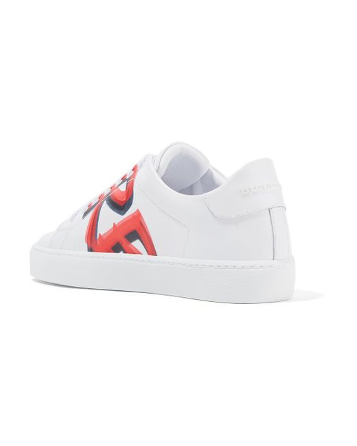 Logo-print Leather Sneakers - White Burberry VvApz