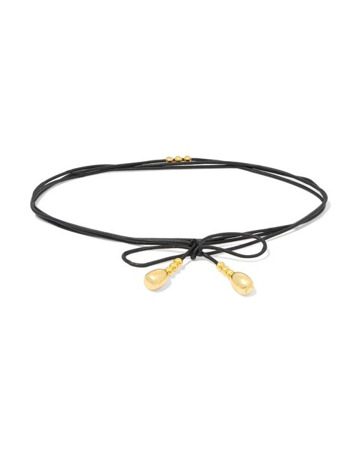 Elizabeth and James | Black Dotti Faux Leather And Gold-tone Choker | Lyst