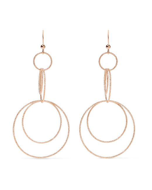 Carolina Bucci - Metallic Florentine 18-karat Rose Gold Earrings - Lyst