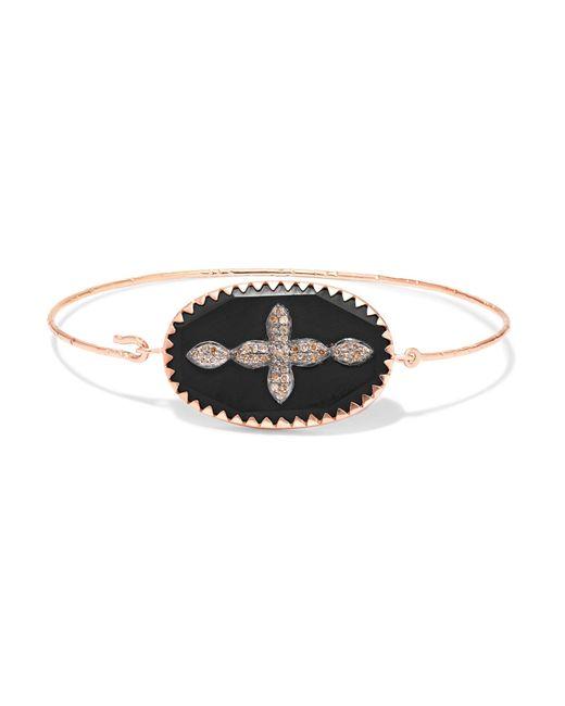 Pascale Monvoisin - Metallic Garance N°2 9-karat Gold, Sterling Silver, Bakelite And Diamond Bracelet - Lyst