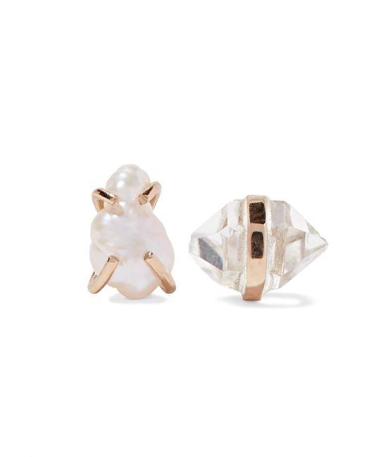 Melissa Joy Manning - Metallic 14-karat Gold, Herkimer Diamond And Pearl Earrings - Lyst