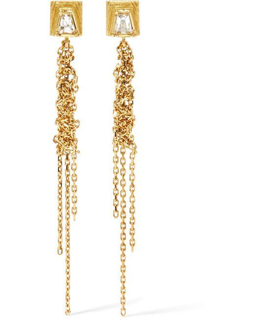 Brooke Gregson - Metallic Geo Waterfall 18-karat Gold Diamond Earrings - Lyst