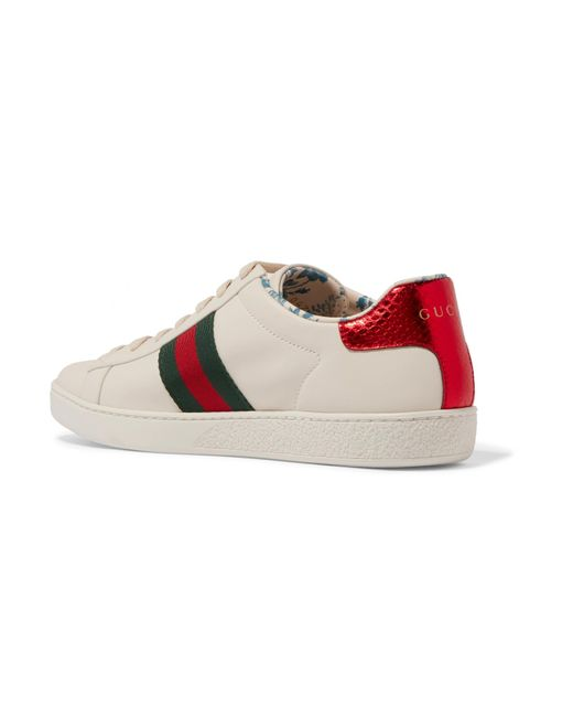 d1085943446 Lyst - Gucci Ace Sneaker With Guccy Print Leather White in White ...