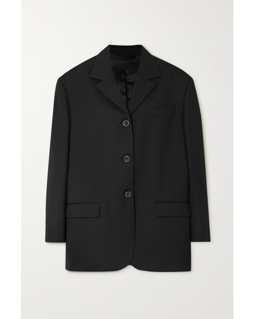 Acne Black Woven Blazer