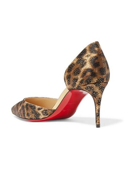 outlet store 22d83 bb405 Women's Brown Iriza 70 Metallic Leopard-print Satin Pumps
