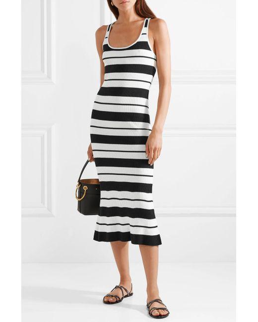 Striped Ribbed Silk-blend Midi Dress - White Jason Wu Quality Prices Online Nice 4g1CaEOXVf