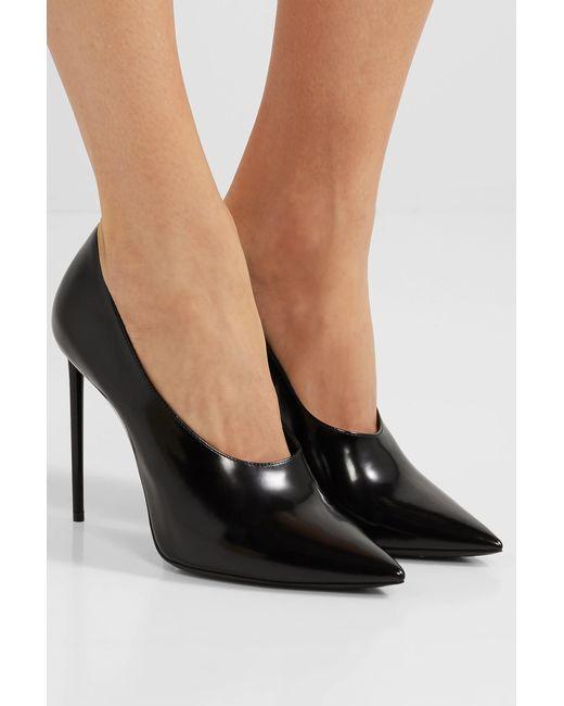 ee70f81a454d ... Saint Laurent - Black Teddy Patent-leather Pumps - Lyst ...