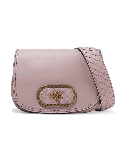 11df9f6628 Bottega Veneta - Multicolor Luna Small Intrecciato Leather Shoulder Bag -  Lyst ...