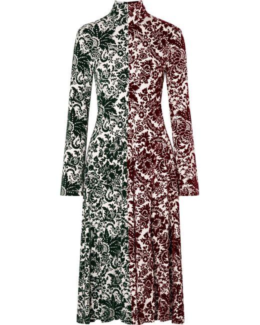 Rosie Assoulin - Green Hans Yolo Flocked Jersey Midi Dress - Lyst