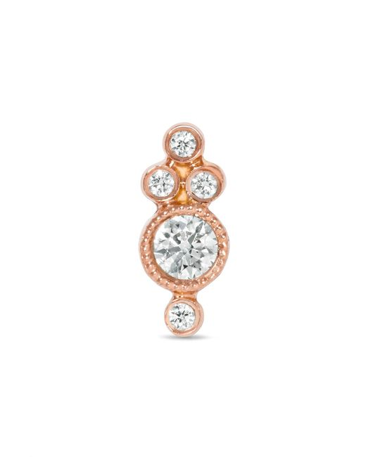 Maria Tash - Metallic 18-karat Rose Gold Diamond Earring - Lyst