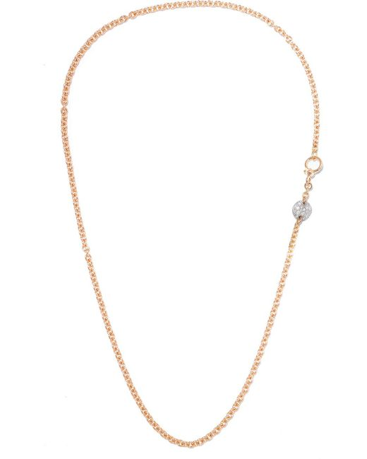 Pomellato - Metallic Sabbia 18-karat Rose Gold Diamond Necklace - Lyst