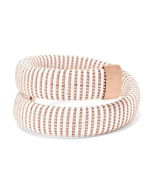 Carolina Bucci | Pink Caro Rose Gold-plated And Cotton Bracelet | Lyst