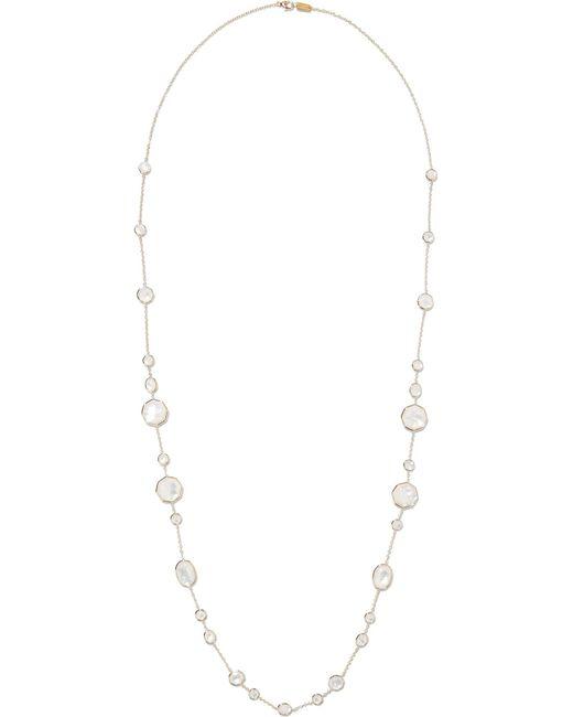 Ippolita | Metallic Rock Candy Crazy 8's 18-karat Gold, Quartz And Mother-of-pearl Necklace | Lyst