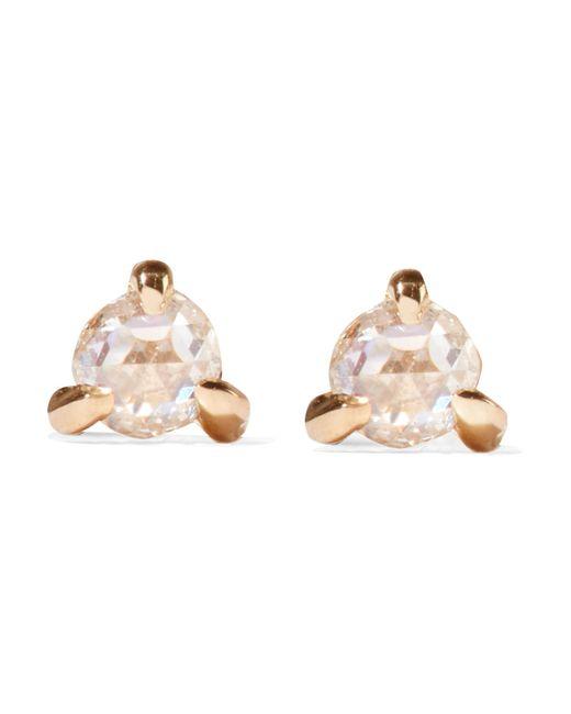 Catbird - Metallic Sleeping Beauty Gold Diamond Earrings - Lyst
