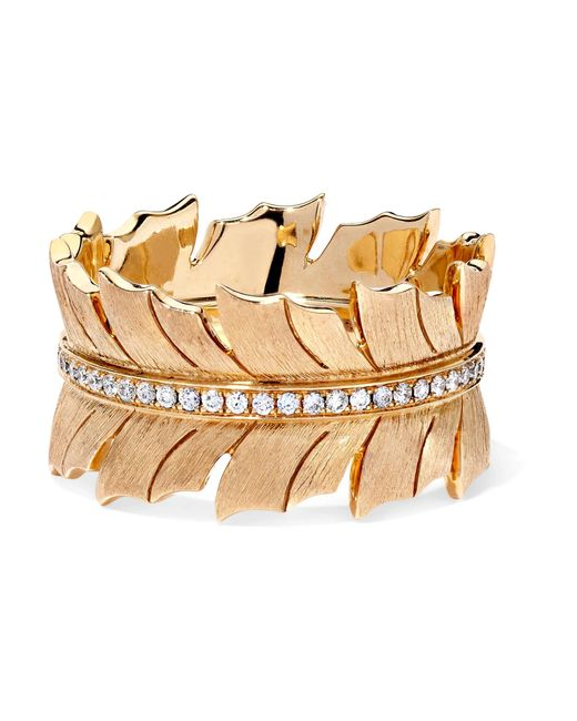 Stephen Webster - Metallic Magnipheasant 18-karat Gold Diamond Ring Gold 7 - Lyst