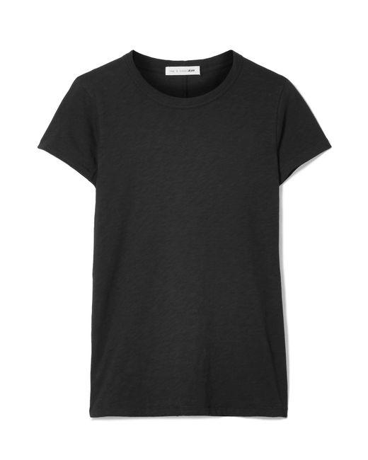 Rag & Bone - Black The Tee Slub Pima Cotton-jersey T-shirt - Lyst