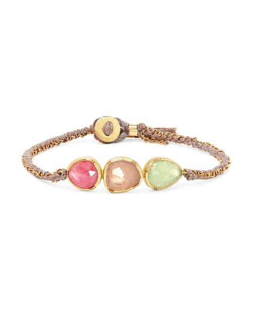 Brooke Gregson - Metallic Triple Orbit 18-karat Gold, Sapphire And Emerald Bracelet - Lyst