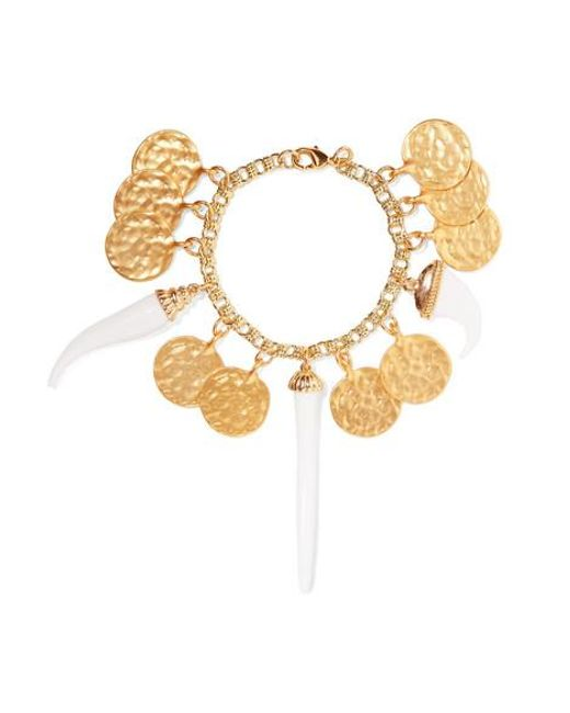 Kenneth Jay Lane Metallic Gold-plated And Resin Bracelet