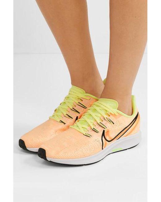 Nike Synthetic Air Zoom Pegasus 36 Premium Rise Flyknit