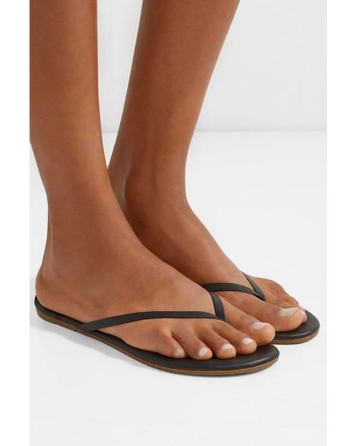Tkees Lily Matte-Leather Flip Flop In Black - Save 36 - Lyst-8638