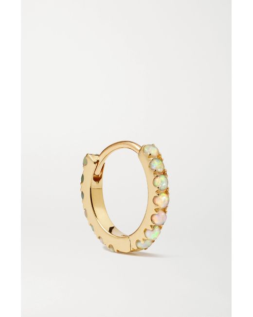 Boucle D'oreille En Or 14 Carats Et Opales 8 Mm Maria Tash en coloris Metallic