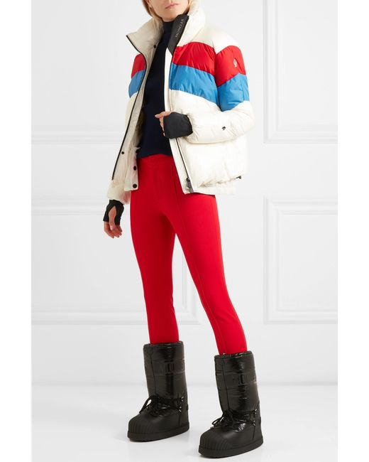 ... Moncler Grenoble - Red Stretch-twill Stirrup Pants - Lyst ... 4f9dd0726