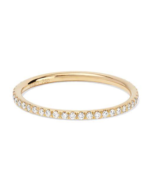Ileana Makri - Metallic Thread 18-karat Gold Diamond Eternity Ring Gold 52 - Lyst