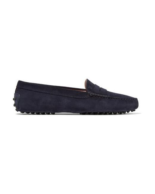 Tod's Blue Gommino Suede Loafers