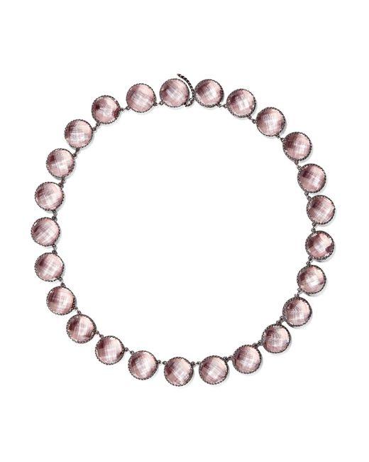 Larkspur & Hawk - Metallic Olivia Button Oxidized Sterling Silver Topaz Necklace - Lyst