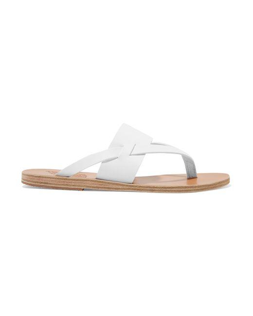 Ancient Greek Sandals | White Zenobia Leather Sandal | Lyst