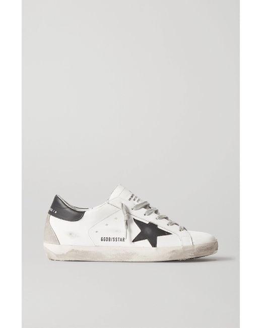 Golden Goose Deluxe Brand White Superstar Sneakers Aus Leder In Distressed-optik