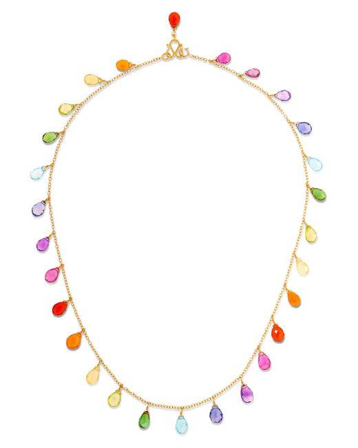 Marie-hélène De Taillac | Metallic 22-karat Gold Multi-stone Necklace | Lyst