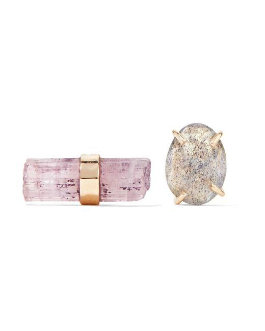 Melissa Joy Manning | Metallic 14-karat Gold, Tourmaline And Labradorite Earrings | Lyst