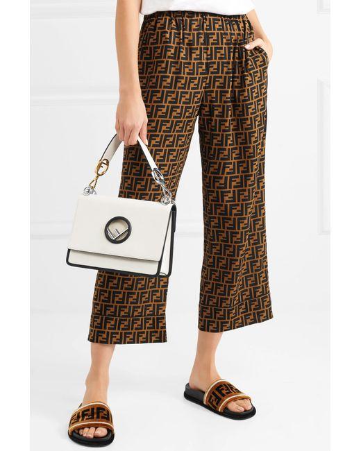 ... Fendi - White Kan I Leather Shoulder Bag - Lyst ... a1e6cf98ca724