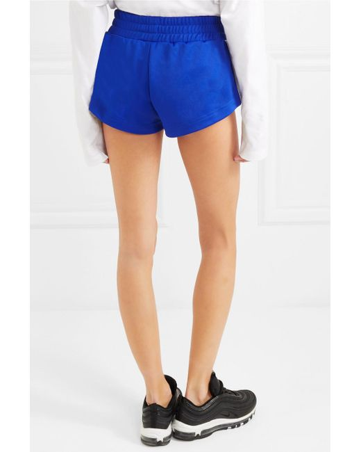 Striped Satin-jersey Shorts - Blue Palm Angels Clearance Hot Sale WewKOJUCq