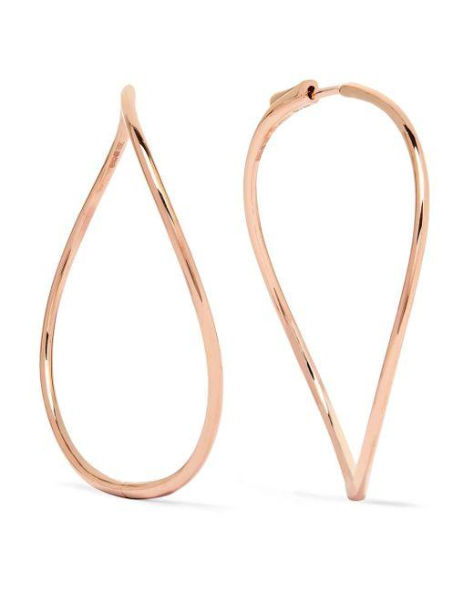 Anita Ko - Metallic 18-karat Rose Gold Earrings - Lyst