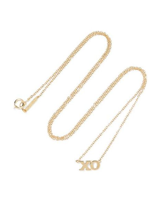 Jennifer Meyer Metallic Xo Kette Aus 18 Karat Gold