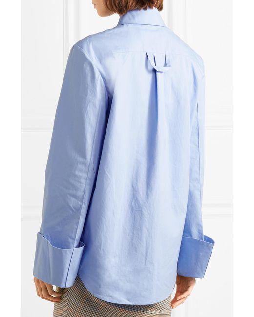Strict Cotton-poplin Shirt - Blue A.W.A.K.E. Deals Sale Online aEYOT