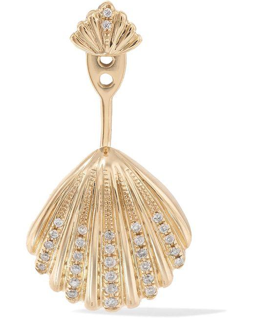 Yvonne Léon - Metallic 18-karat Gold Diamond Earring Gold One Size - Lyst