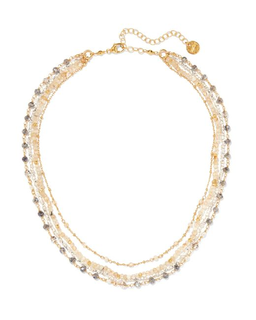 Chan Luu   Metallic Gold-plated Multi-stone Necklace   Lyst
