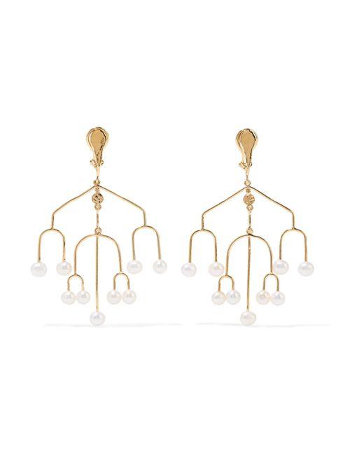 Aurelie Bidermann - Metallic Siroco Gold-plated Freshwater Pearl Clip Earrings - Lyst