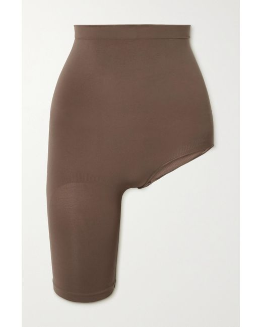 Skims Brown Seamless Sculpt Solution Short 1 – Oxide – Shorts