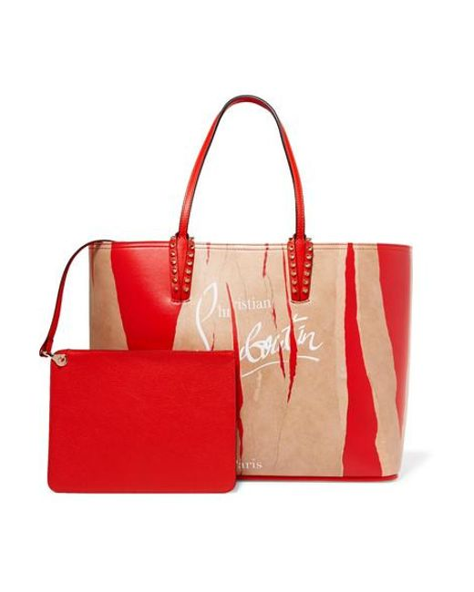 5931500ed36 Women's Red Cabata Kraft Studded Printed Leather Tote