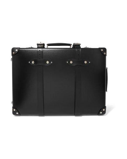 "Globe-Trotter Black Centenary 20"" Leather-trimmed Fiberboard Travel Trolley"