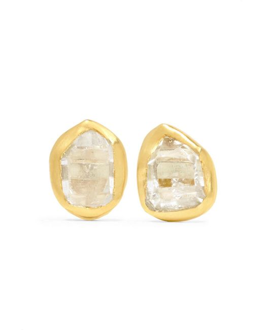 Pippa Small - Metallic 18-karat Gold Herkimer Diamond Earrings - Lyst