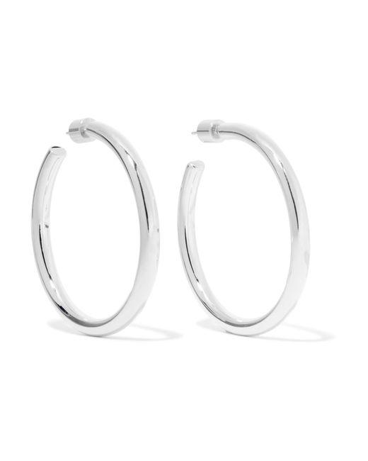 Jennifer Fisher - Metallic Baby Lilly Silver-plated Hoop Earrings Silver One Size - Lyst