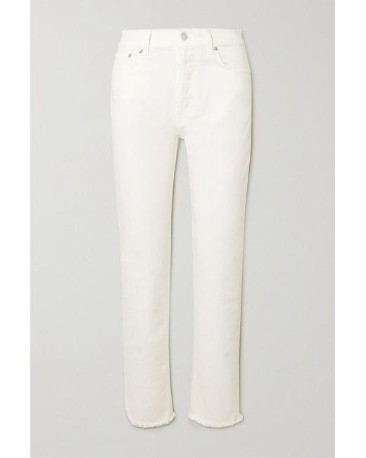 Christopher Kane Multicolor Frayed Organic Mid-rise Straight-leg Jeans