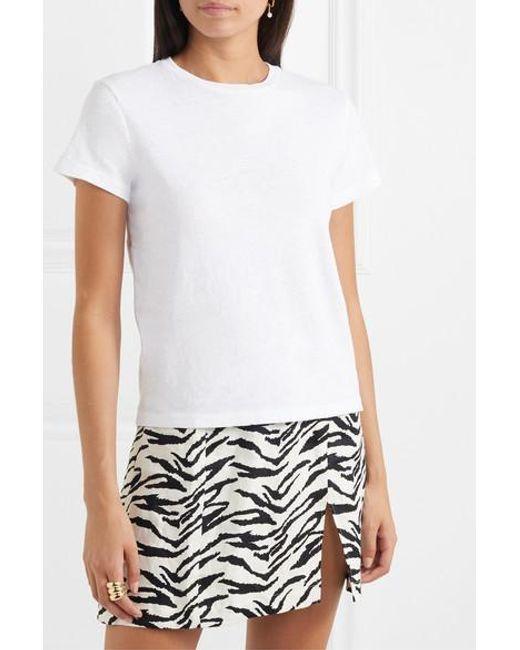 Re/done White Classic T-shirt Aus Baumwoll-jersey
