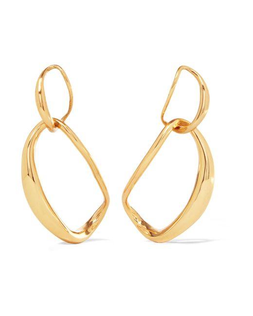 Dinosaur Designs | Metallic Liquid Chain Gold-plated Earrings | Lyst