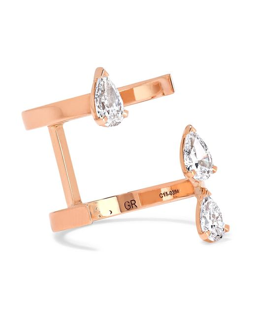 Repossi - Pink Serti Sur Vide 18-karat Rose Gold Diamond Ring - Lyst